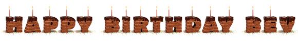 Happy Birthday Bev