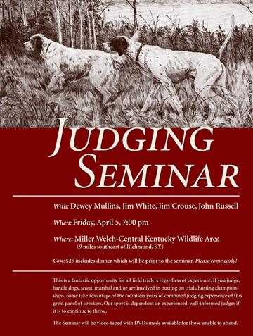 Judging Seminar